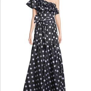 Never worn Caroline Costas floor length dress